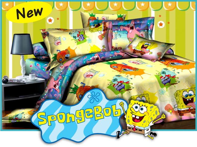 Sprei Spongebob ukuran 180x200