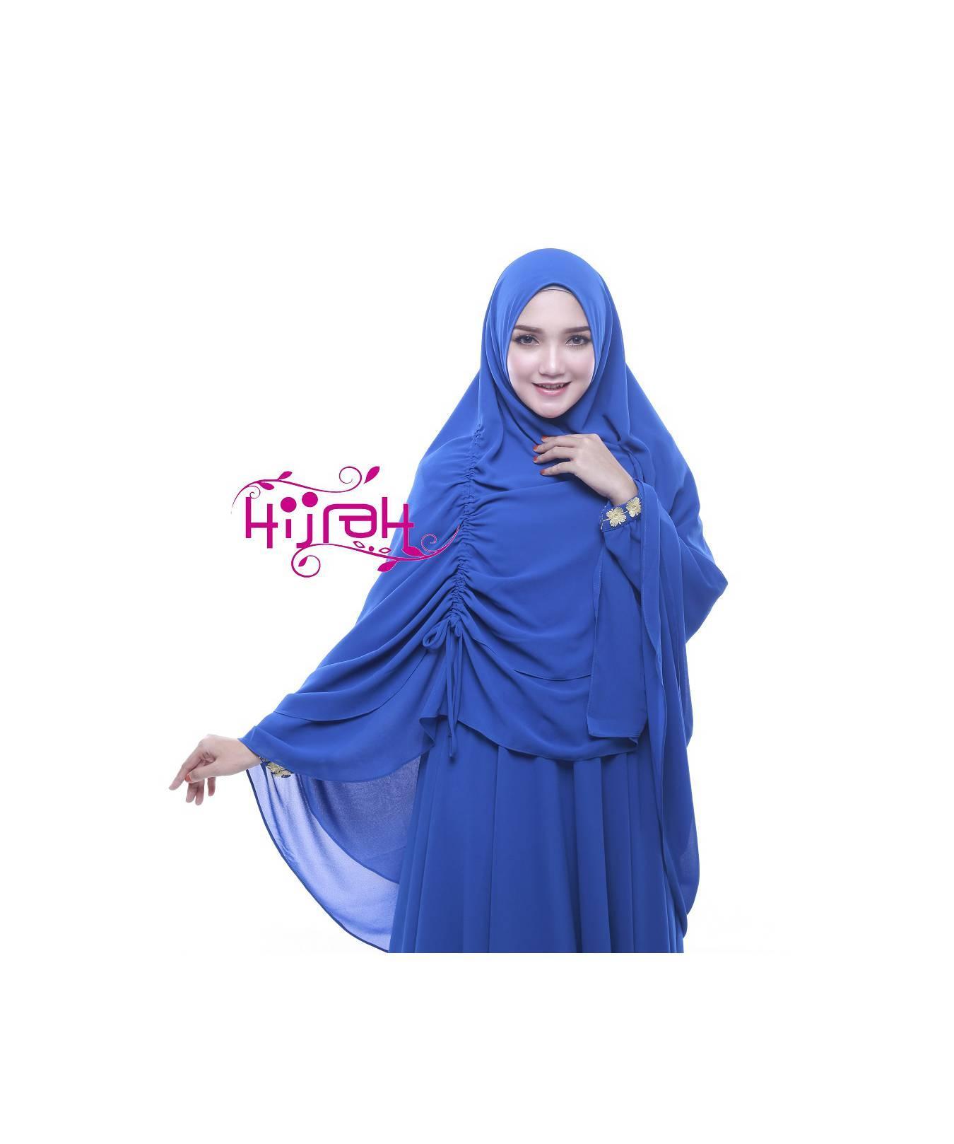 Gamis Syar'i New Bilqis by Hijrah, Premium Biru Elekstrik