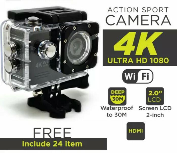 Kamera Sport Action Camera 4K Ultra HD/ GoPro wifi/Kogan Terlaris di Lazada