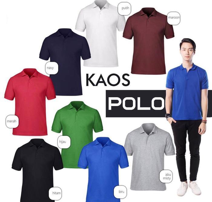 Kaos Kerah Polo Shirt Berkerah Polos Grosir Pria Cowok Murah