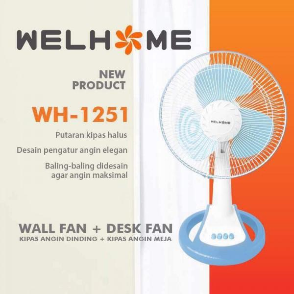WelHome Kipas Angin 2 in 1 Desk Fan / Wall Fan WH-1251X Duo 12