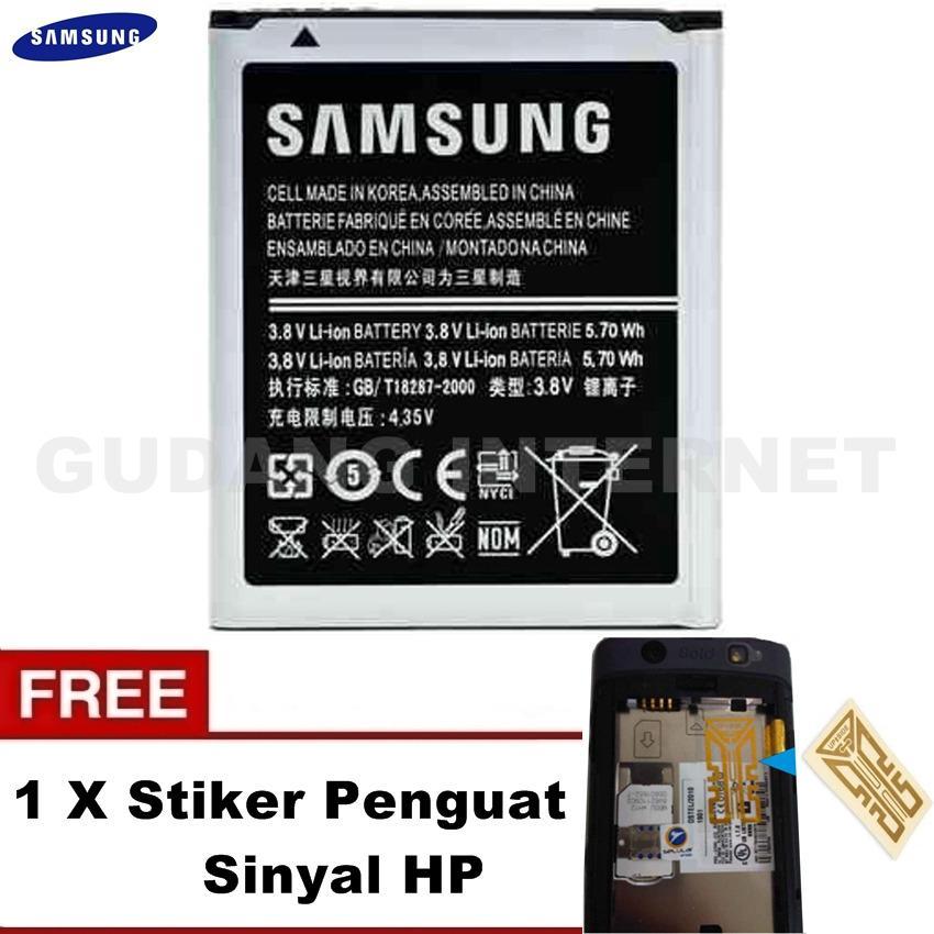 Samsung Baterai Young 1 GT-B5510, GT-S5360, GT-S5300, GT-S5380 Original + FREE Stiker Penguat Sinyal HP