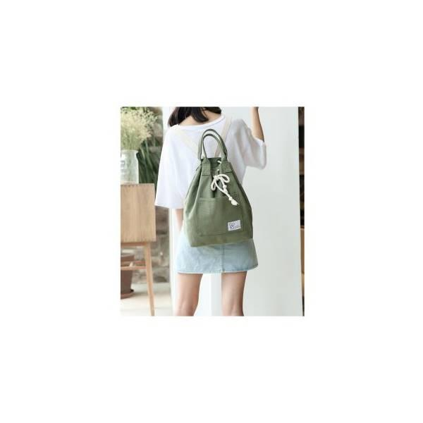 Hot Promo ABG Tas Ransel Kanvas Korea Serut Backpack Punggung / Keren Anak Muda