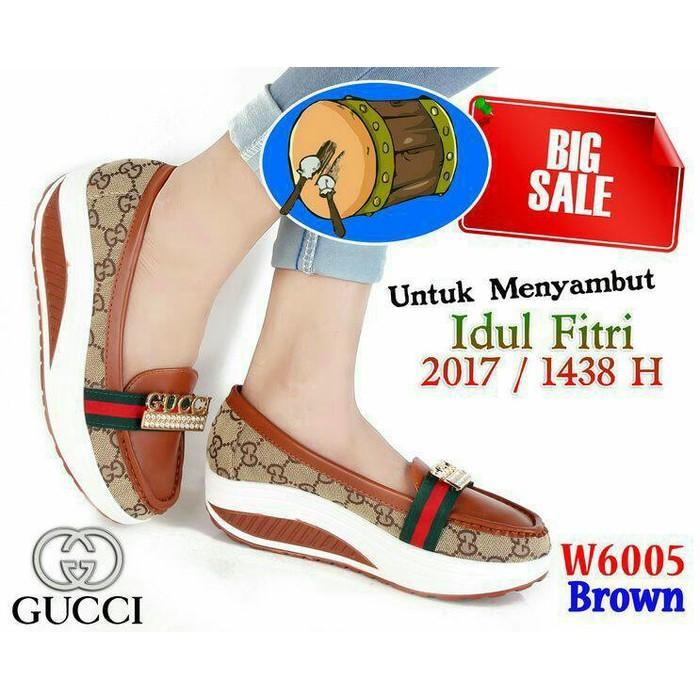... harga sepatu sandal wedges wanita . Source · Promo Vulcanize Slip On Shoes  Gucci 6005(BIG SALE) Fashion Branded Import Gratis Ongkir 731562cc11