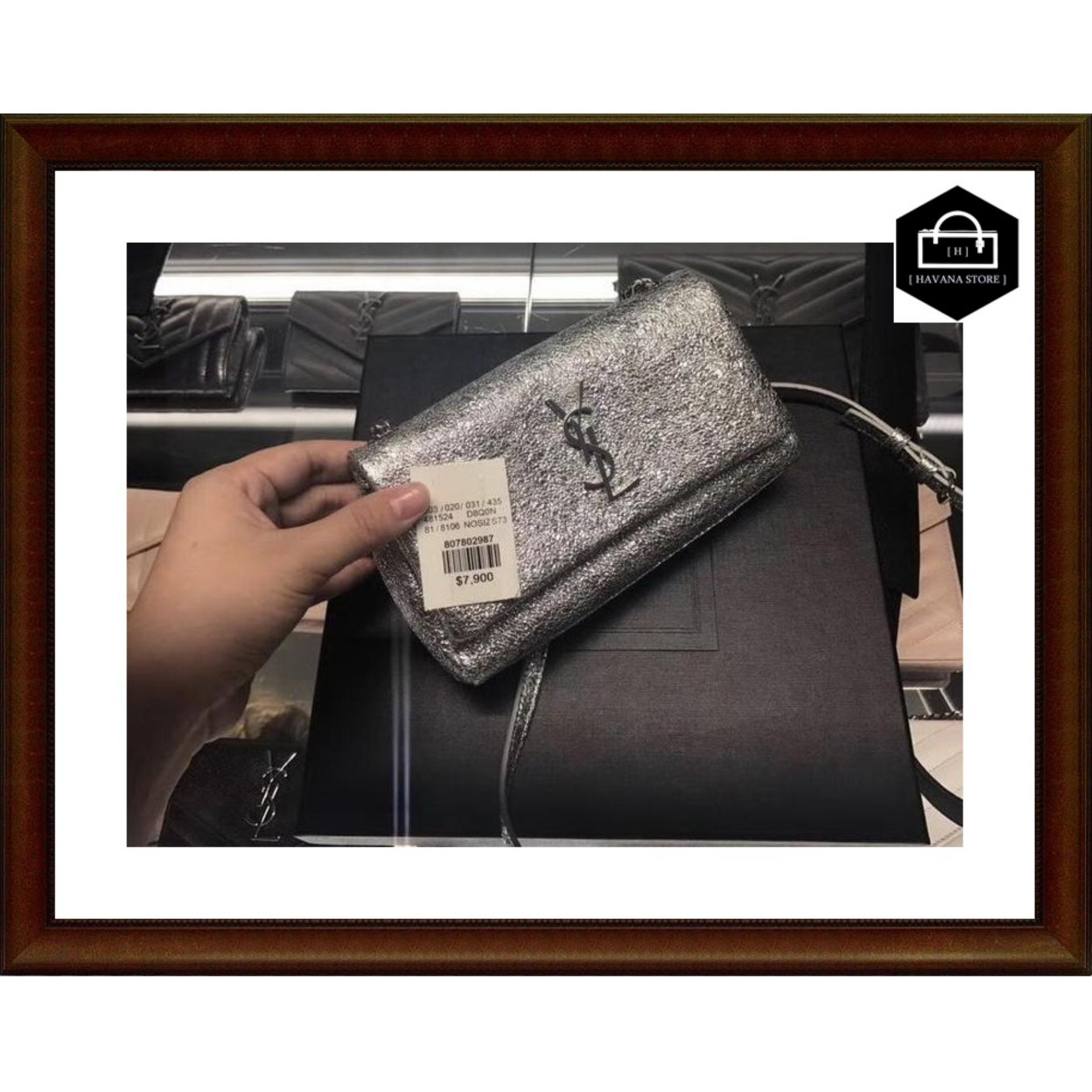 190b5a1e903fc0 Clutch YSL Toy West Hollywood Metallic Chain SILVER Mirror 2018 / bag /  branded / mirror