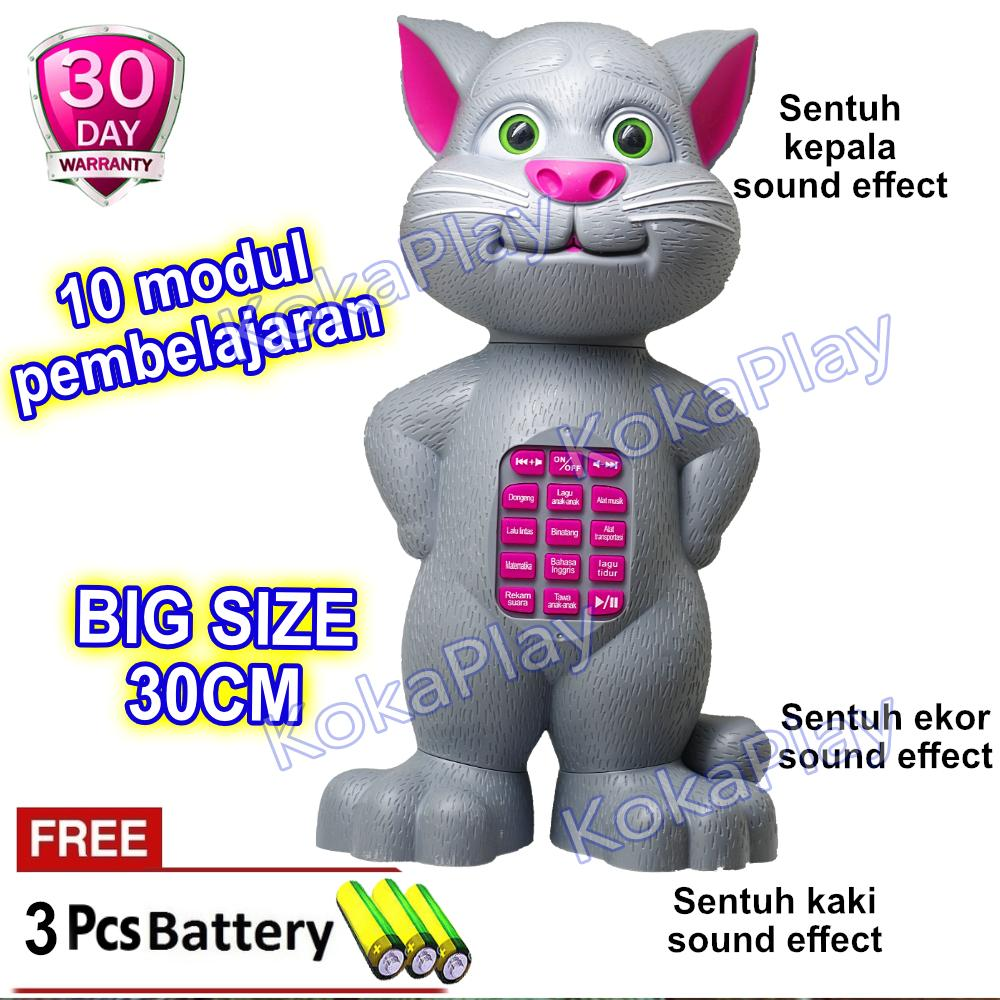 KokaPlay Intelligent Talking Tom Cat New Funny Doll Repeat Story Dual  Language Mainan Anak Edukasi Boneka 93425f6b61
