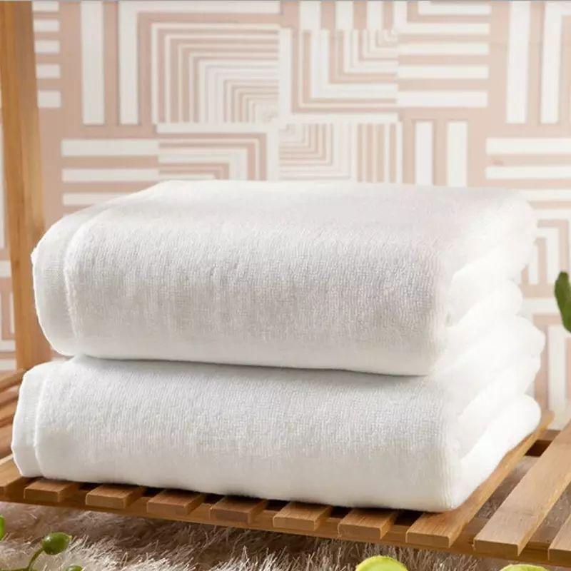 Handuk Hotel Mutia 70 x 140 cm Putih Gramasi 400 GSM Bath Towel Premium Grade A Tebal Putih Polos