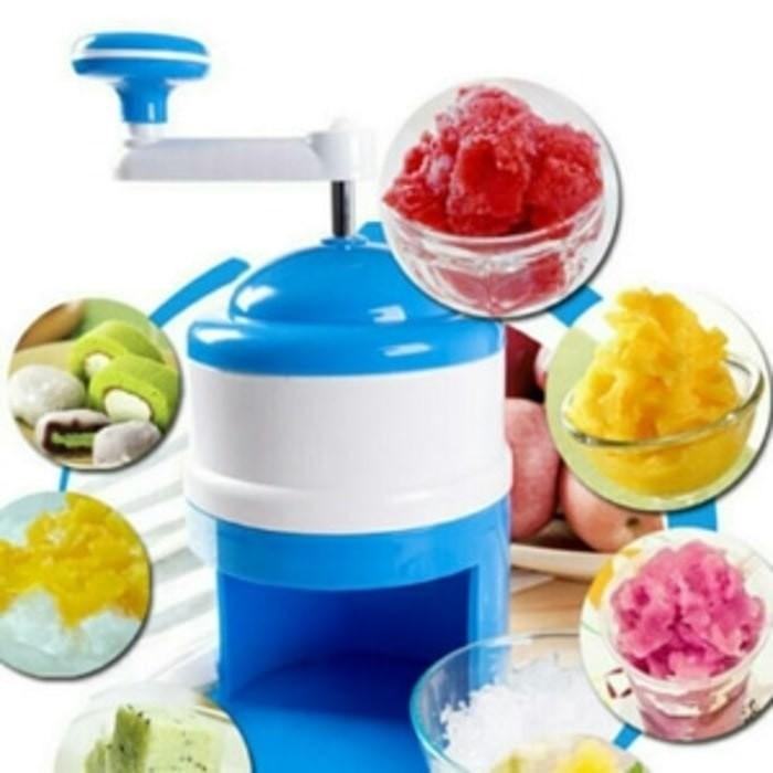 Snow Cone Ice Machine Alat Serut Es Manual Mesin Parut Mini Es Campur - Bihxxo