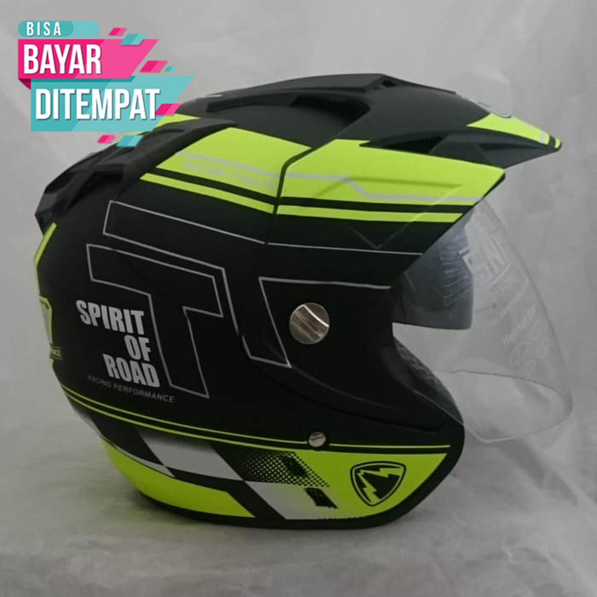 [Promo Best Seller] Helm Double Visor (2 kaca) R-9 Black