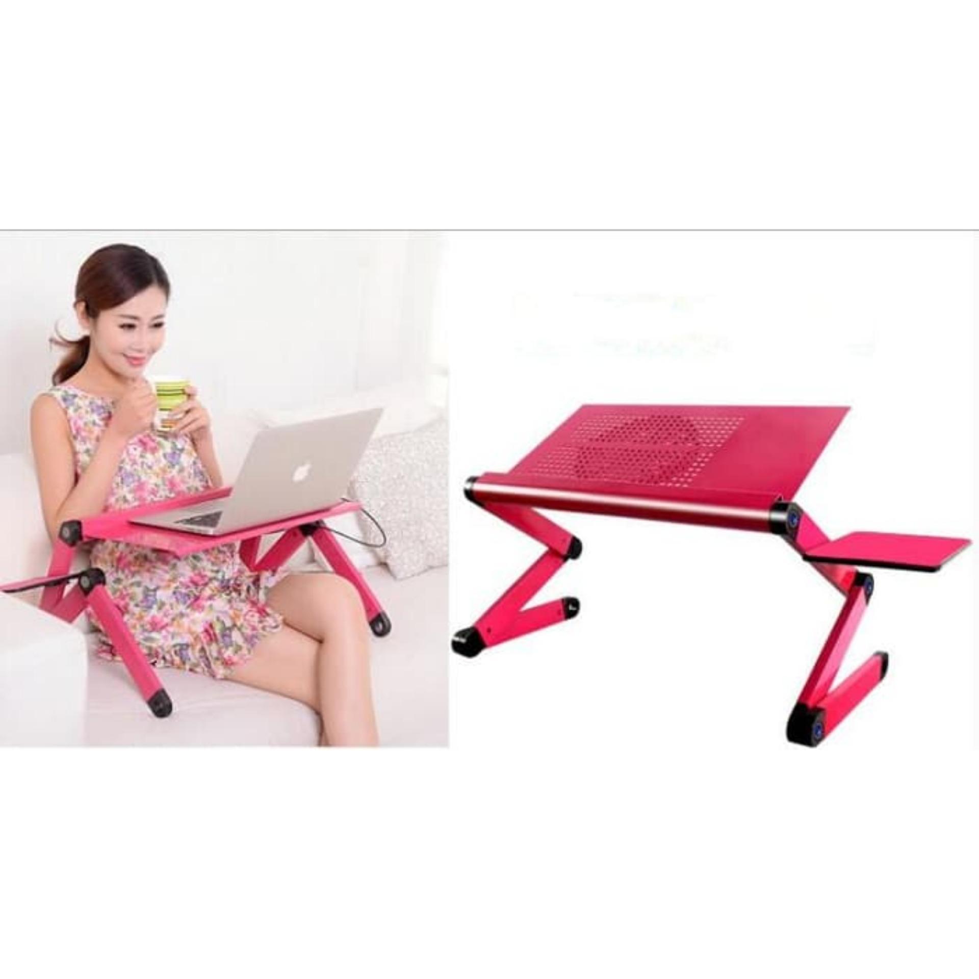 Bangku Lipat Minimalis Bangku Anak Untuk Belajar Meja Untuk Membaca Koran Meja Laptop Siku 360 Derajat Merah Muda