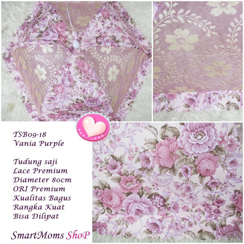 Tudung Saji Shabby Chic Lace Bisa Dilipat Vania Purple By Smartmoms-Shop.