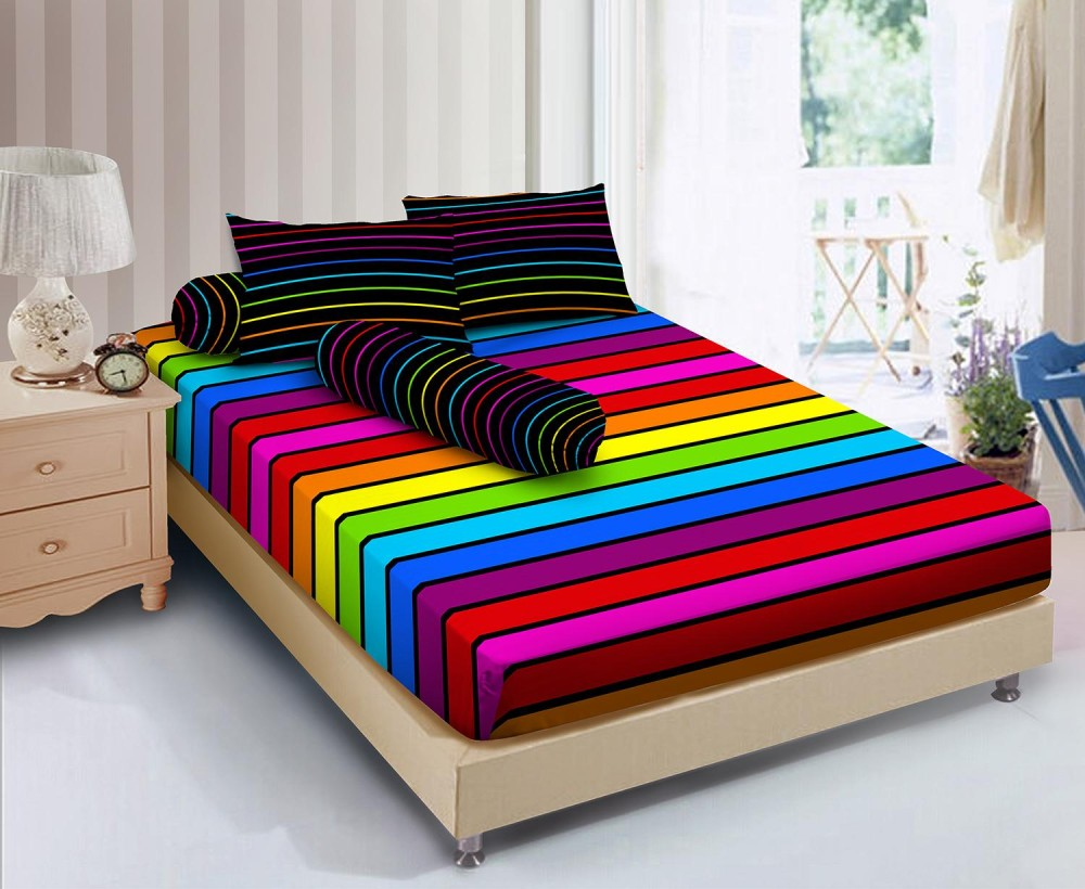 Kintakun D'luxe Sprei - 120 x 200 (Single) - Rainbow