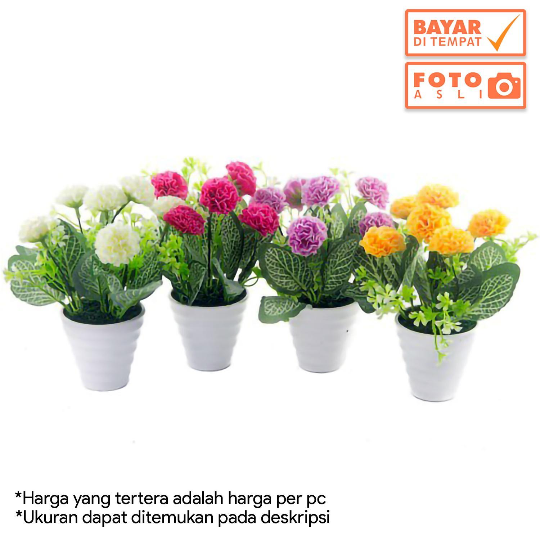 Dekorasi Rumah - Buket Bunga Anyelir Artifisial Vas Melamin Murah 6ef472dde9