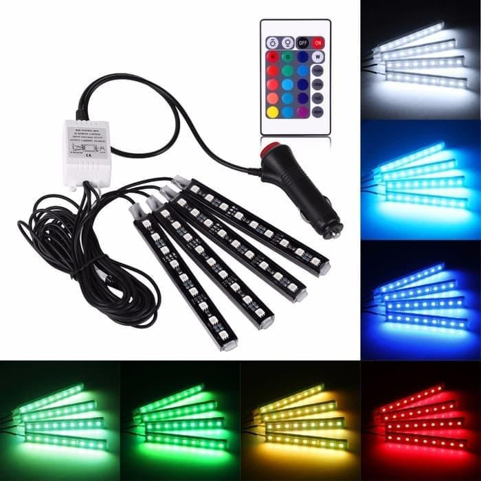 Led Kolong / Lampu Dekorasi Dashboard 16 Warna + Remote Rgb By Grosirkemeja.