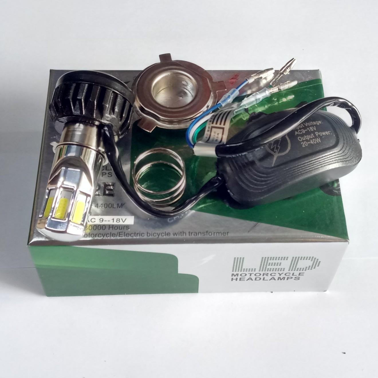 Lampu led motor H6 dan H4 Enam sisi AC DC RTD