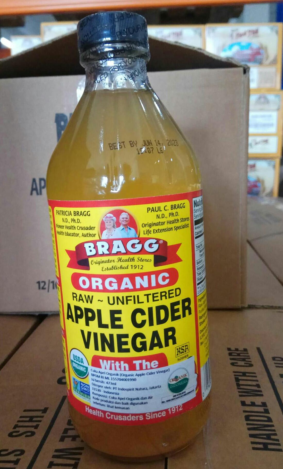 Buy Sell Cheapest Organic Bragg Apple Best Quality Product Deals New Arrival Cider Vinegar 473 Ml Sari Cuka Apel 473ml Original