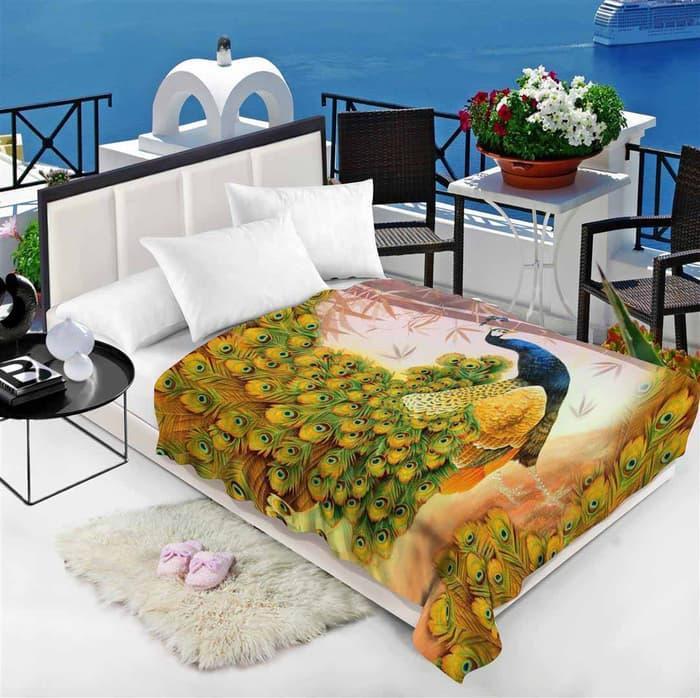 Chelsea Selimut 150x200cm - Peacock ||| selimut bed cover bayi dewasa karakter bulu tebal bonita anak doraemon carter bonita