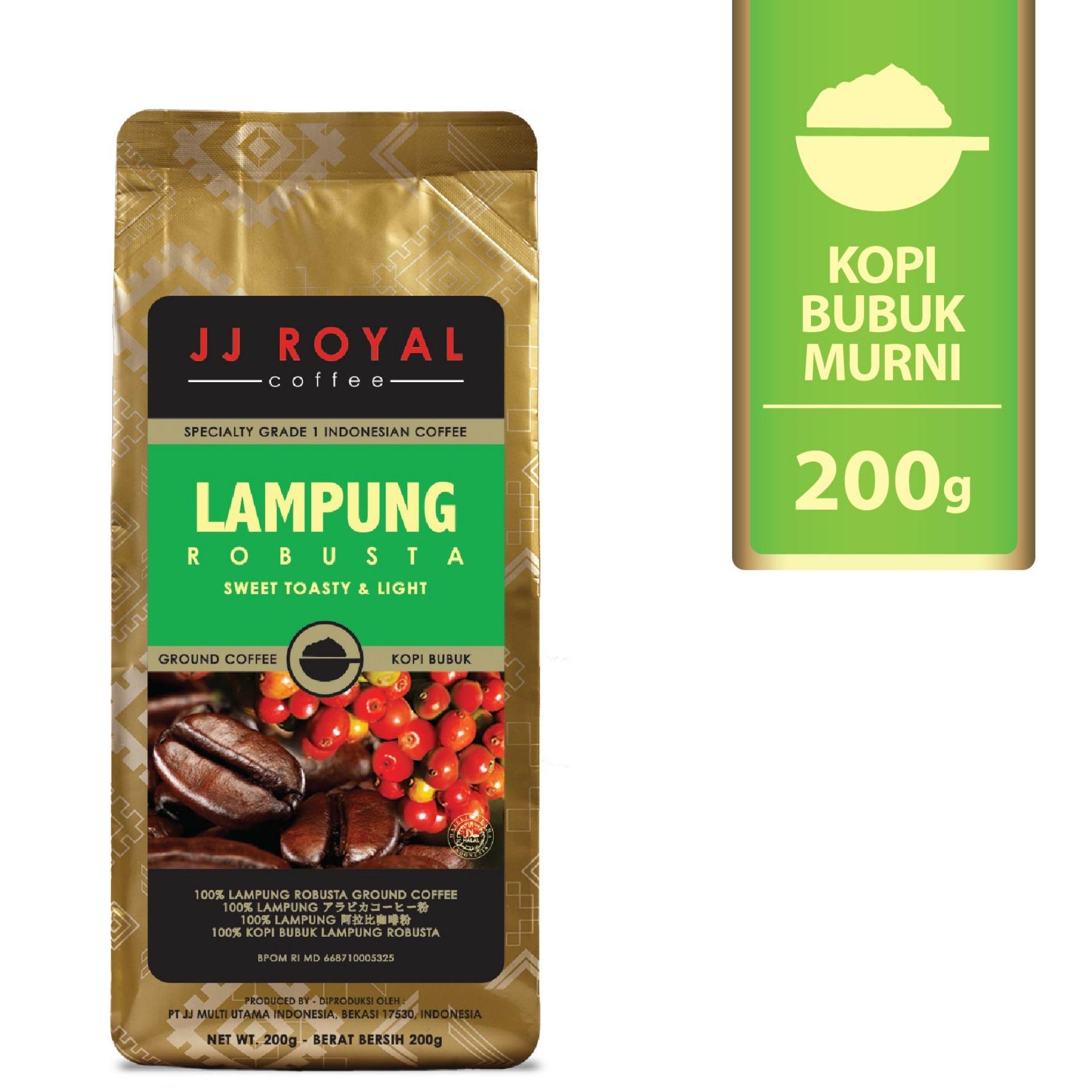 JJ Royal Coffee Lampung Robusta Ground (Kopi Bubuk) 200gr