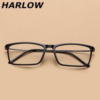 Review of TR90 Sangat Ringan bingkai kacamata pria bingkai lengkap persegi  baja rabun dekat Bingkai Kacamata 5e08a9bc9e