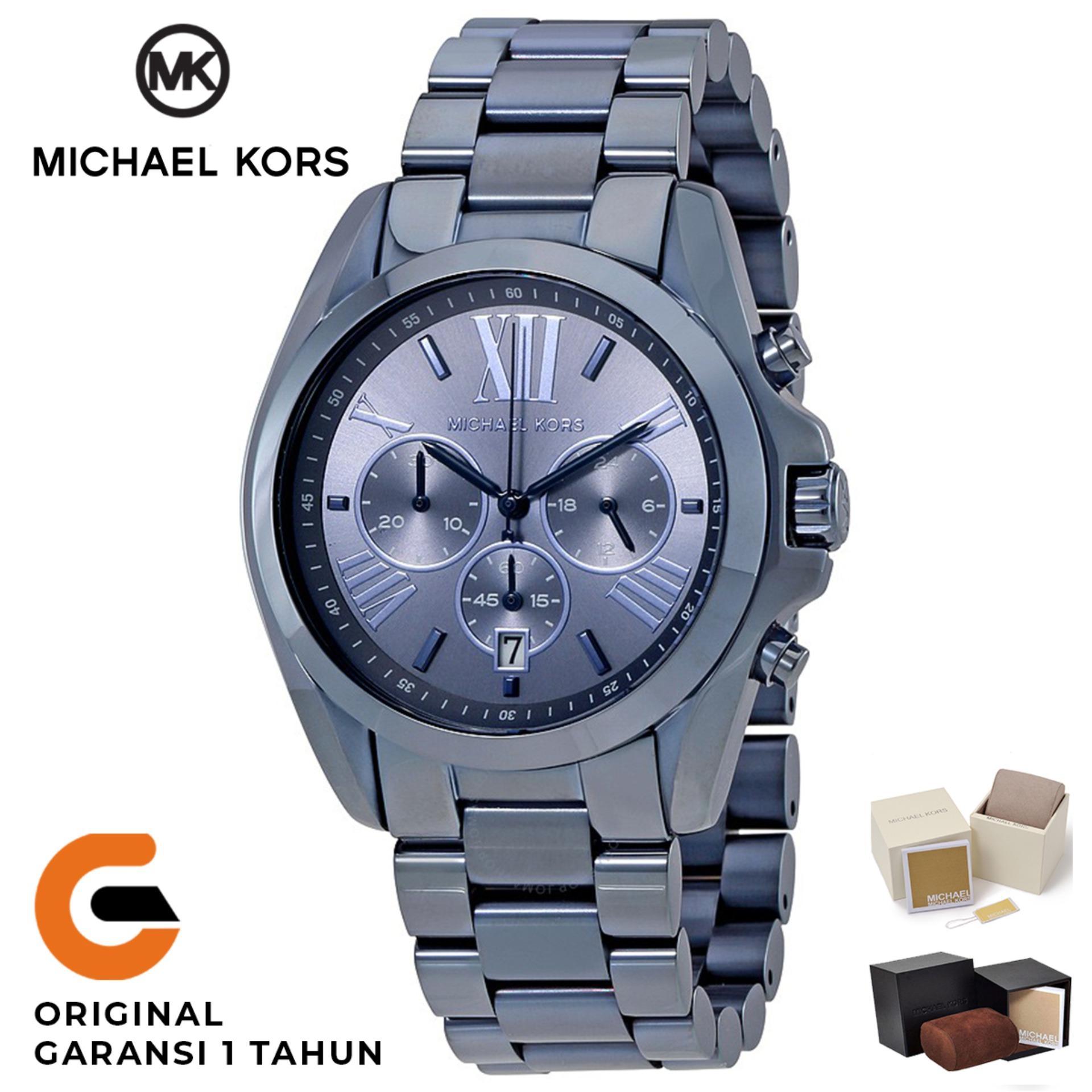 Michael Kors Watch Original Jam Tangan Wanita Michael Kors Bradshaw MK6248  Tali Rantai Stainless Strap Blue 5b8bdfb077