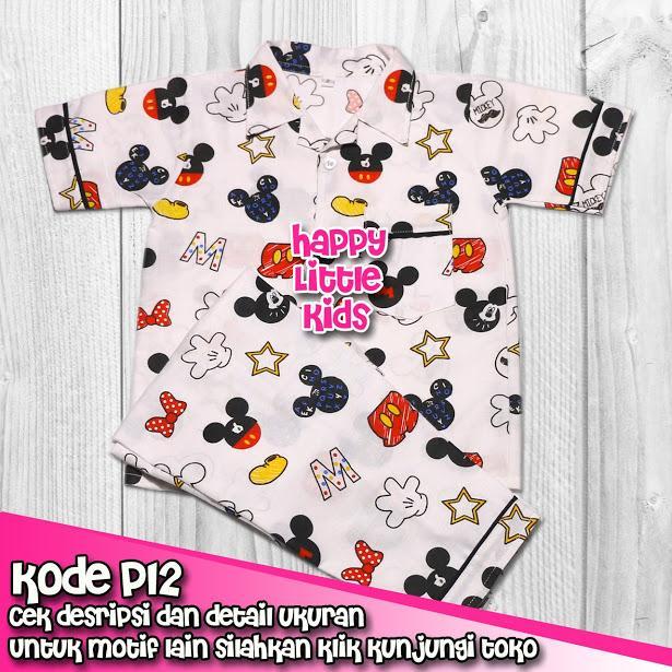 Baju Tidur Piyama Anak 1 sd 12 Tahun Laki-Laki Perempuan P12