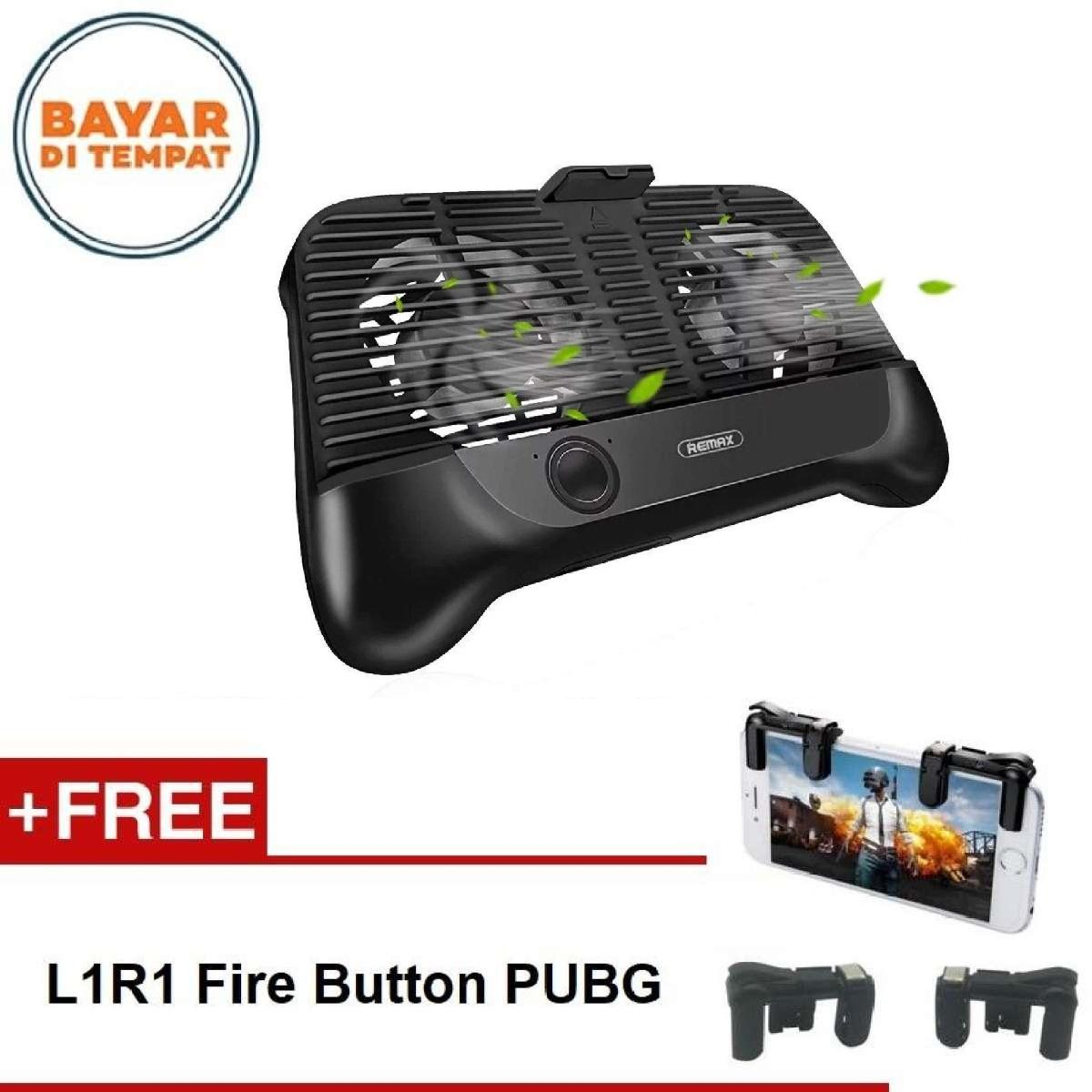Remax Smartphone Cooling Gamepad RT-EM01 Stand Pad Handphone for Mobile Legend, PUBG, AOV, Free Fire