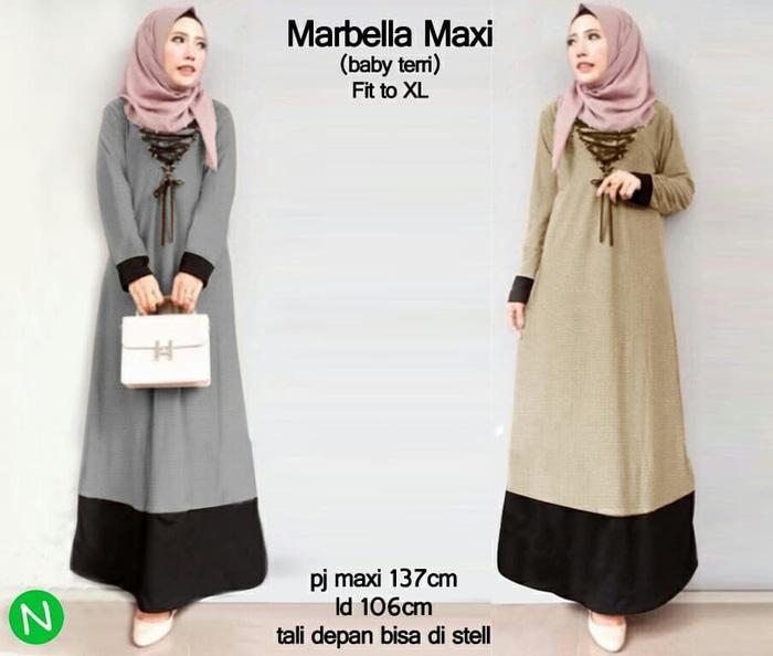 60380-marbella maxi - Cokelat Muda / Baju wanita / gamis / baju atasan wanita / Baju wanita murah / baju wanita jumbo / baju polos / baju wanita polos / baju pesta / kemeja wanita / baju couple / dress