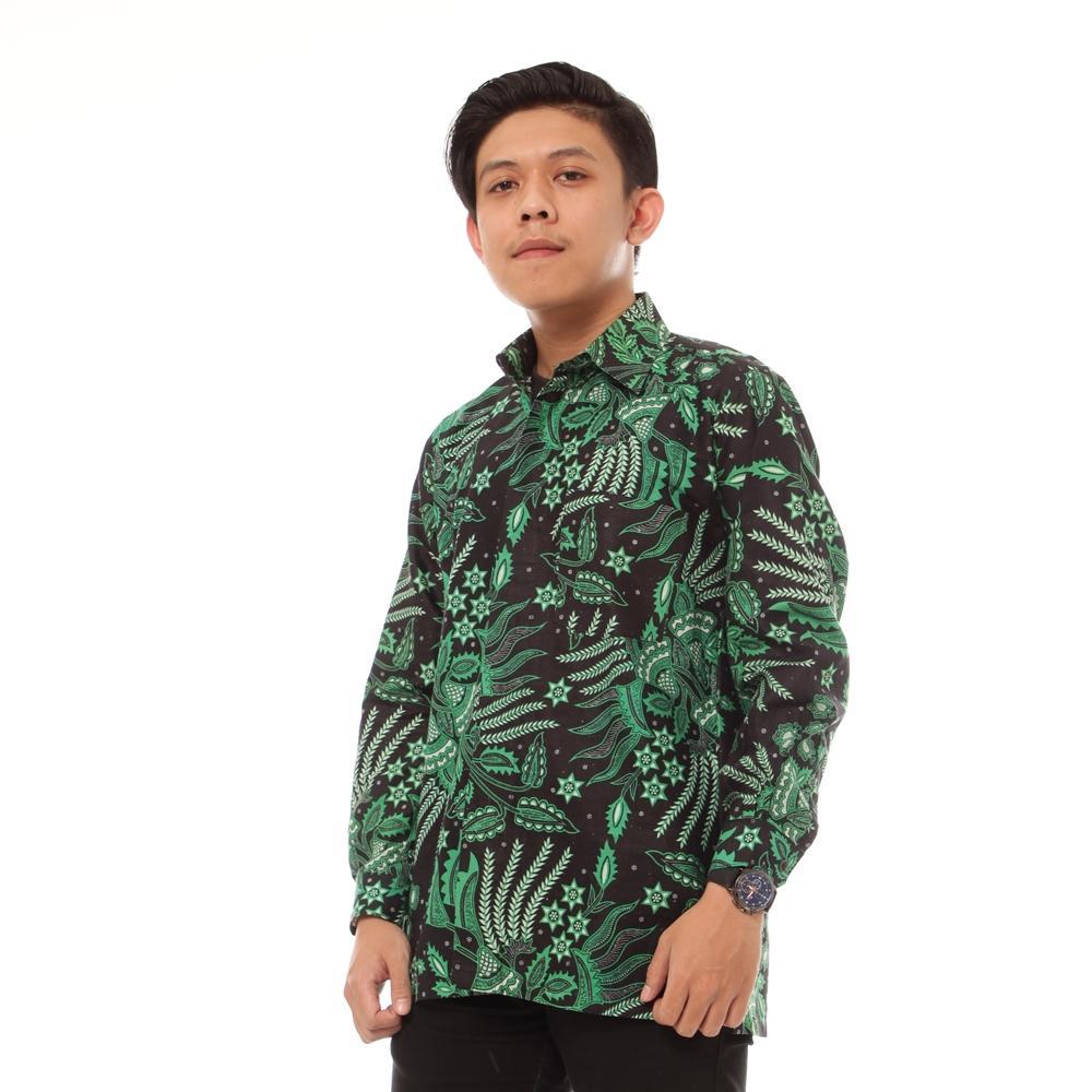 Kemeja Batik Pria Lengan Panjang Kemeja Batik Pria Pekalongan Lengan Panjang Motif Teratai