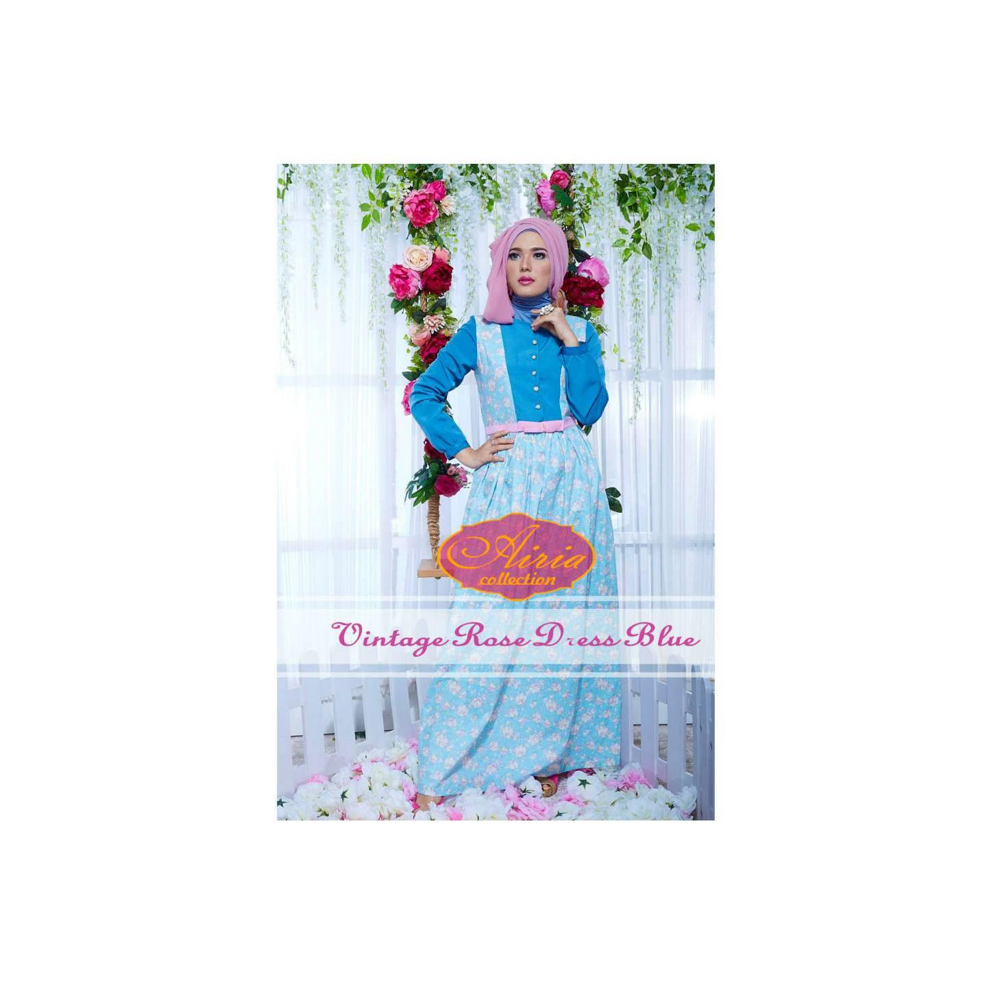Rana Vintage Rose Dress/Gamis Pesta/Baju Muslim Couple