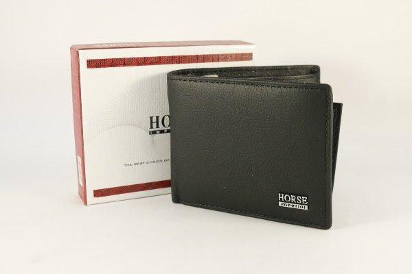 Dompet kulit pria imperial horse rebah/horizontal coklat - LLS89