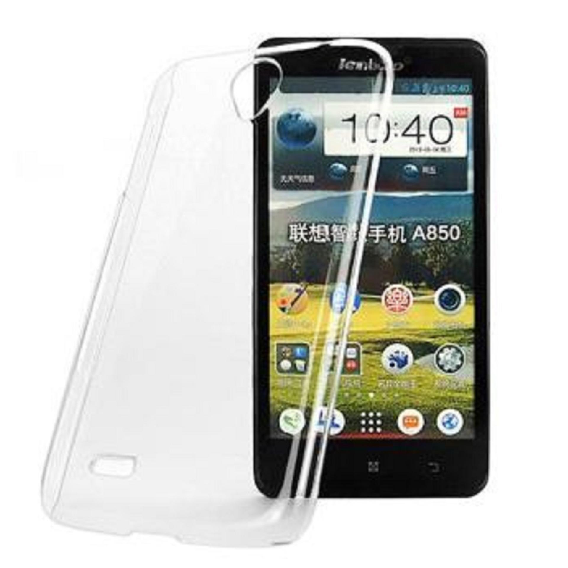 Bendoel Aircase for Lenovo A5000 | Softcase Ultrathin Anti Crash - Putih Transparan