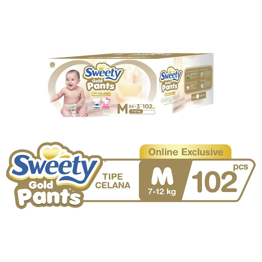 Sweety Popok Gold Pants M 3x34 [Special E-commerce Packaging]