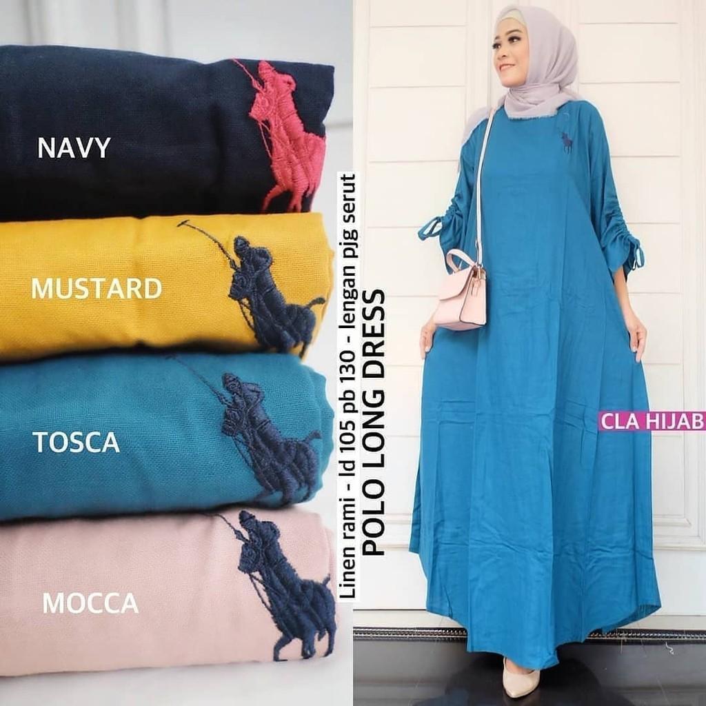JAKARTA GROSIR -  polo long dress balotelly wd.f Fashion Dress / Atasan / Tunik / size M, L dan XL