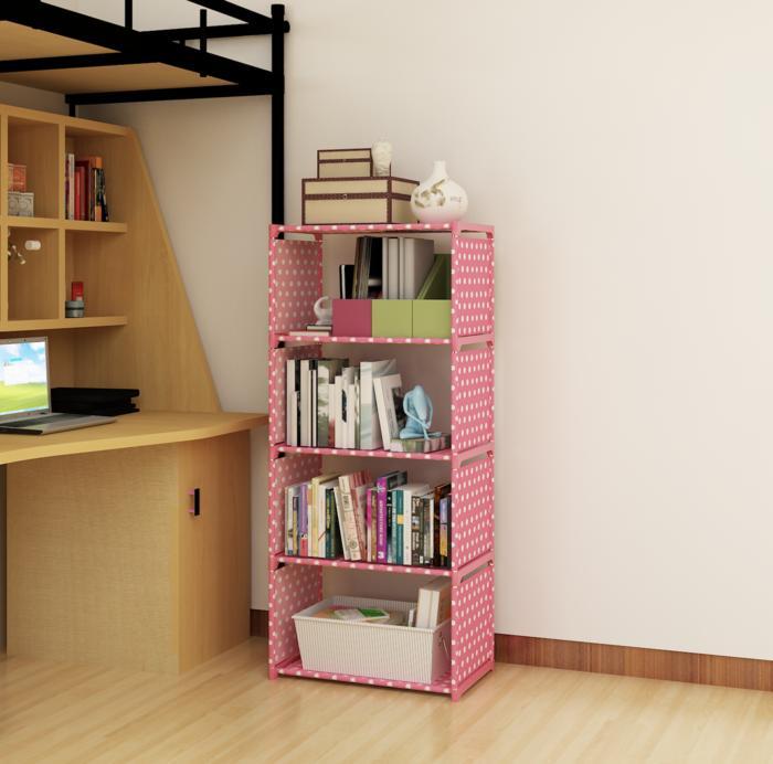 R5 Rak BUKU Serbaguna 5 SUSUN (Mudah dibongkar pasang) MEGAHOME / rak buku minimalis  / rak buku plastik  / rak buku sederhana  / rak buku cantik  / rak buku cantik murah  / rak buku elegan
