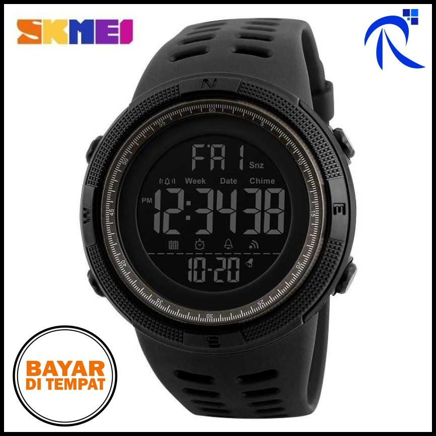 SKMEI Jam Tangan Digital – DG1251 – Black   Hitam   Red   Merah   Blue    Biru   Gold   Emas   Brown   Coklat – Watch Watches Jam Tangan Strap  Silikon Pria ... 941b58619f