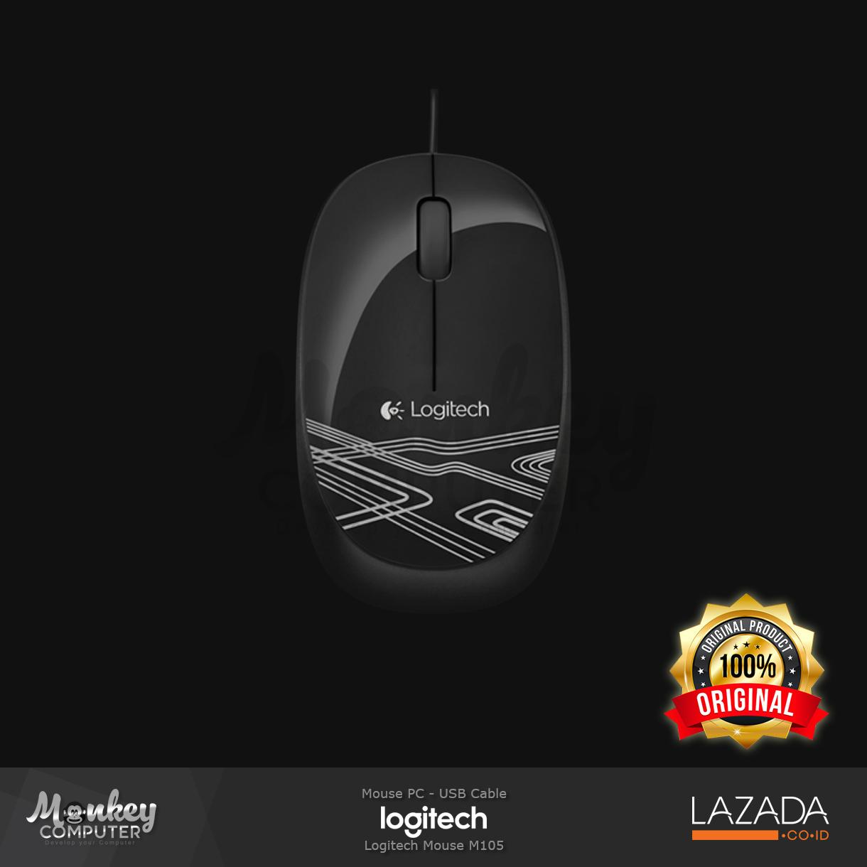Rp 117.900. Mouse Logitech M105 Cable - OriginalIDR117900
