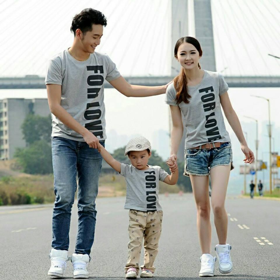 SUNSHINE COUPLE-BAJU KELUARGA COUPLE FAMILY FOR LOVE SATU ANAK (AYAH,IBU DAN ANAK) / KAOS COUPLE / BAJU COUPLE / BAJU KELUARGA / COUPLE MURMER / BAJU KEMBARAN