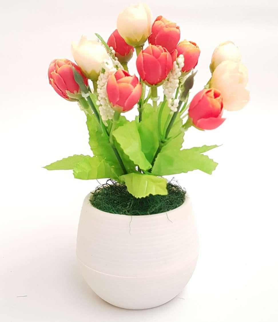Bonsai Mini Mawar Kuncup Vas Bola Hiasan Dekorasi Artificial f901bdc9d6