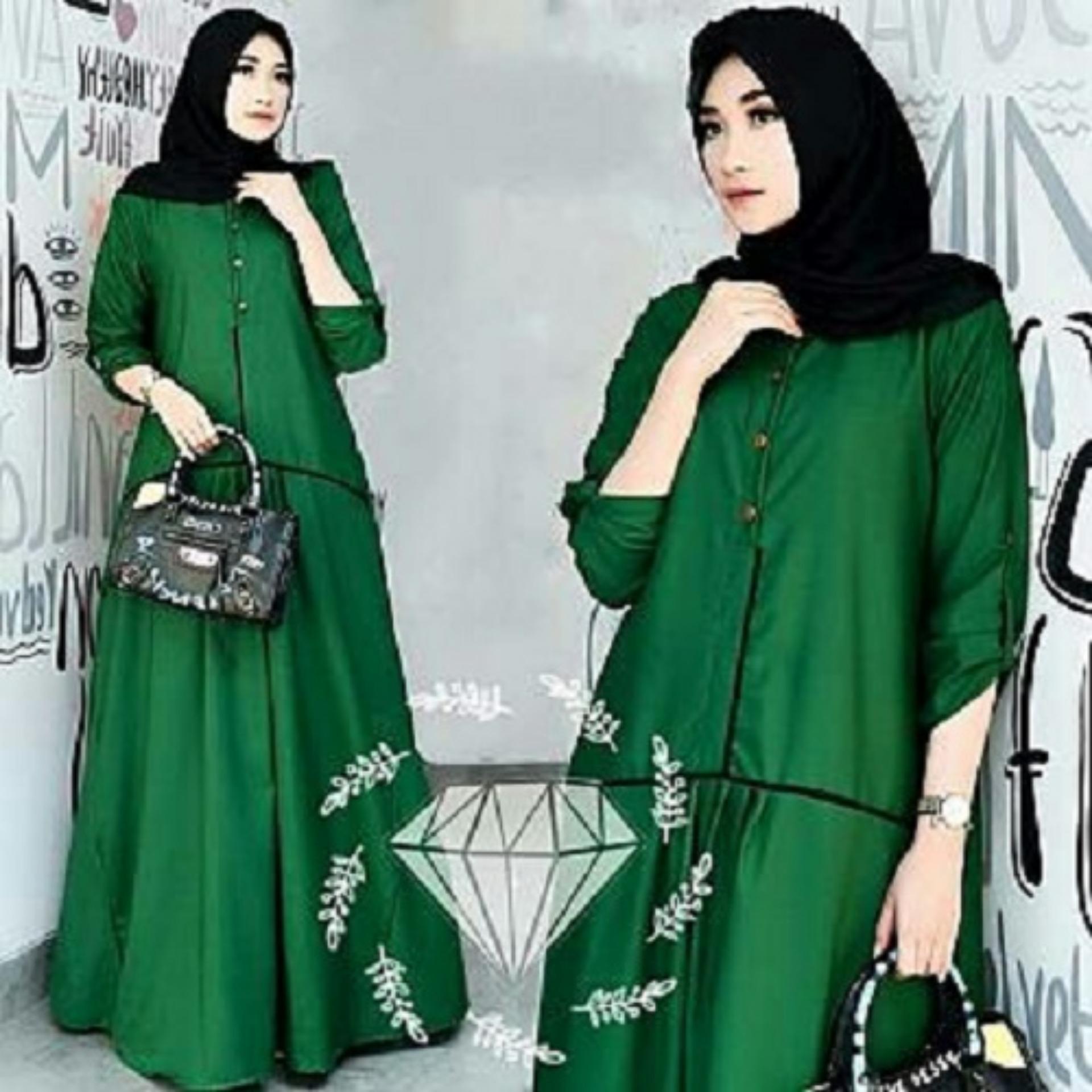 trendshopee Pakaian Muslim Wanita Gamis Maxy Odelia