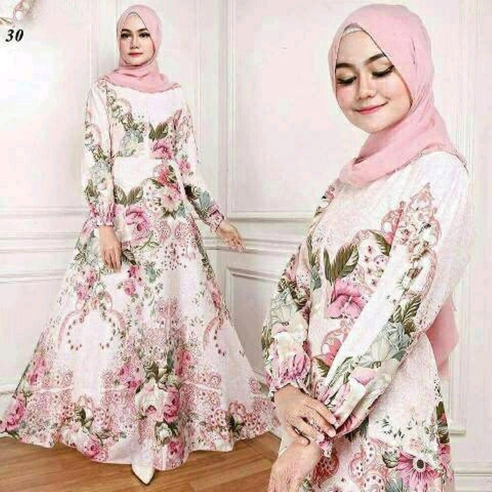 Jual Terlaris maxi EMMA30 gamis syari busana muslim wanita pakaian murah 06f072d7c8