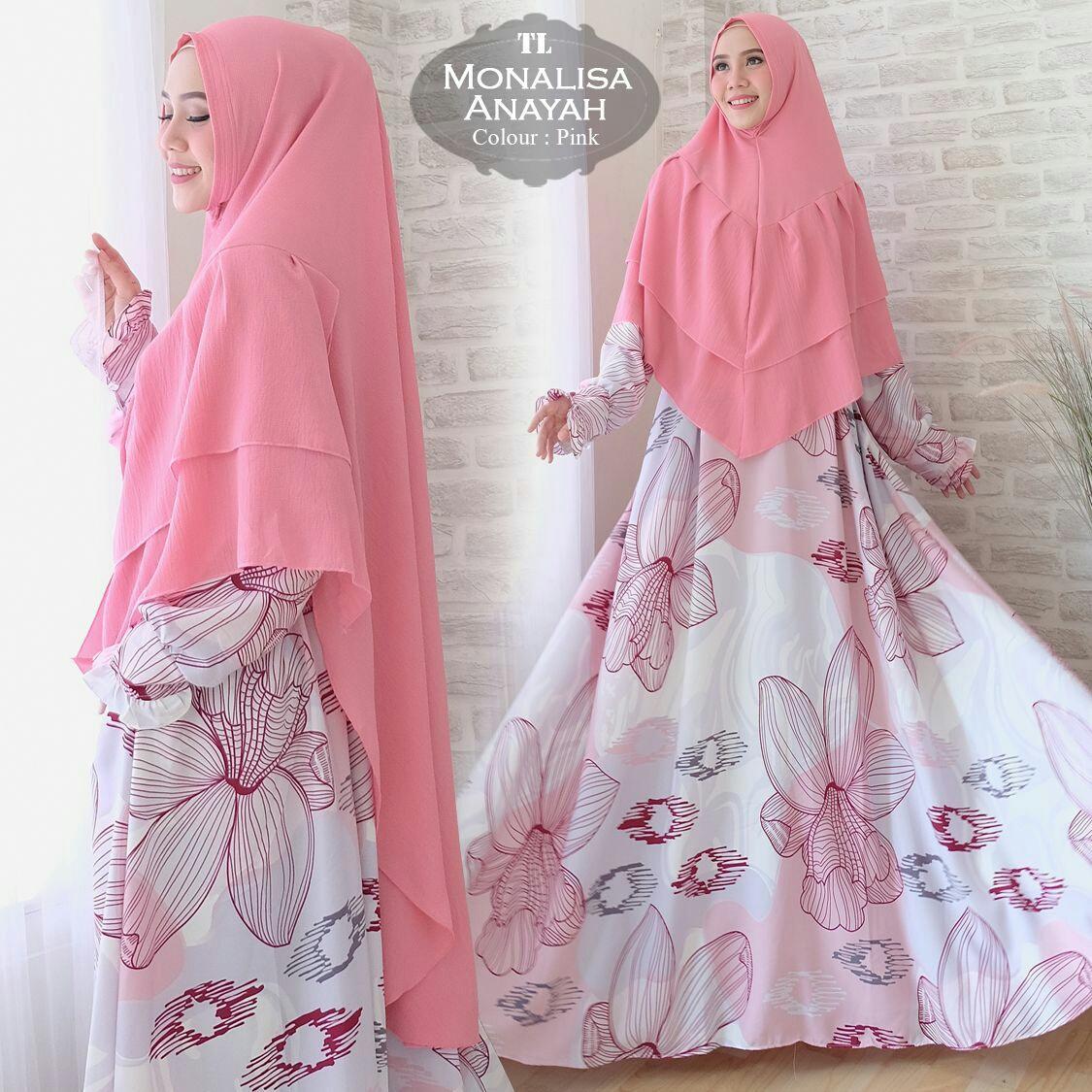 Humaira99 Baju Gamis Syari Jumbo Dress Hijab Muslimah Longdress Atasan Wanita Monalisa XXL Anayah