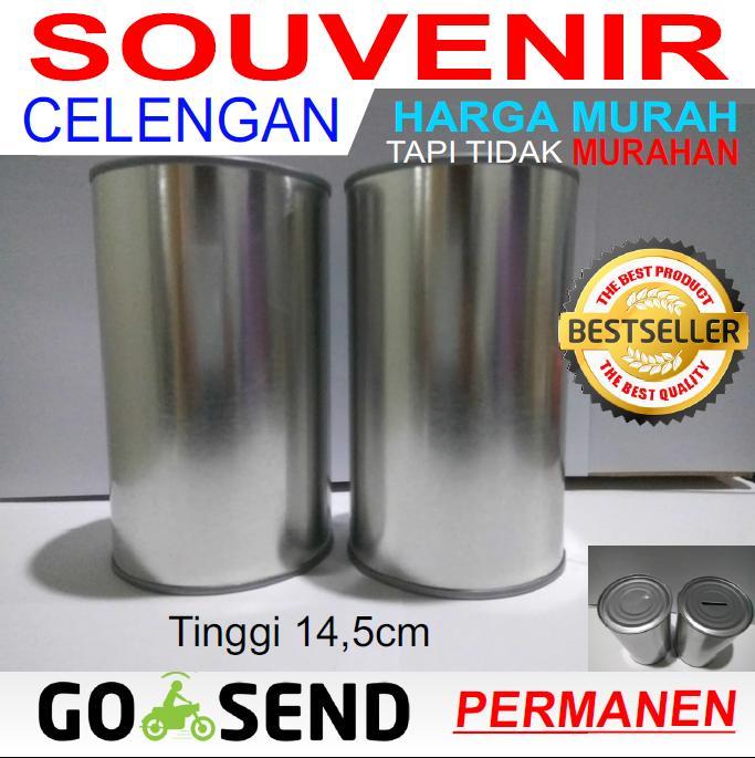 Souvenir Celengan Kaleng Polos Permanen By Segalaada-Co-Id.