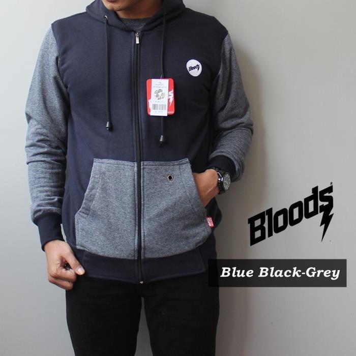 Jaket Bloods Blue Black Grey