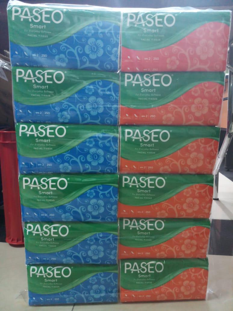 PAKET HEMAT !!! 12 Pcs PASEO Original Tisu Tissue Smart 250 sheets 2 ply ( ISI 12 PCS )