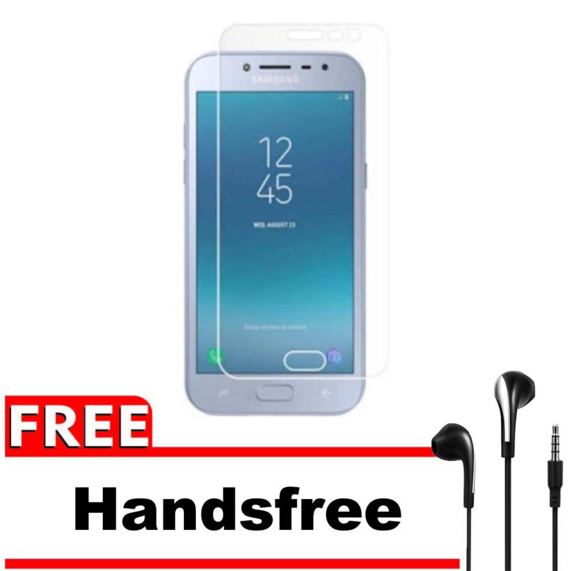 Vn Samsung Galaxy J2 Pro (2018) / Grand Prime Pro / 4G LTE / Duos Tempered Glass 9H Screen Protector 0.32mm + Gratis Free Handsfree Earphone Headset Universal - Bening Transparan