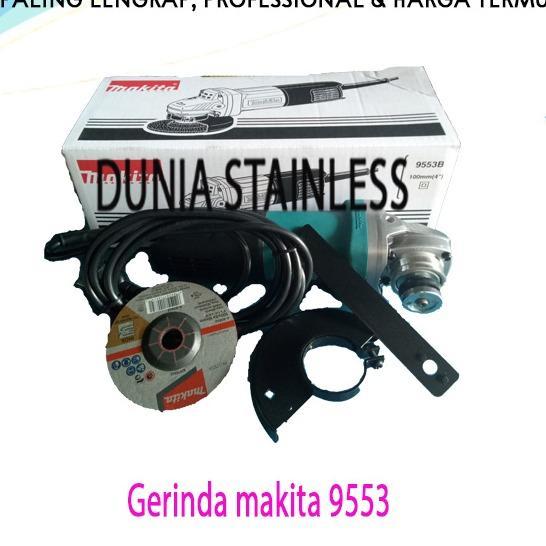 Mesin Gerinda Makita 9553 B grenda besi kayu wf hollo baja siku interior teknik.