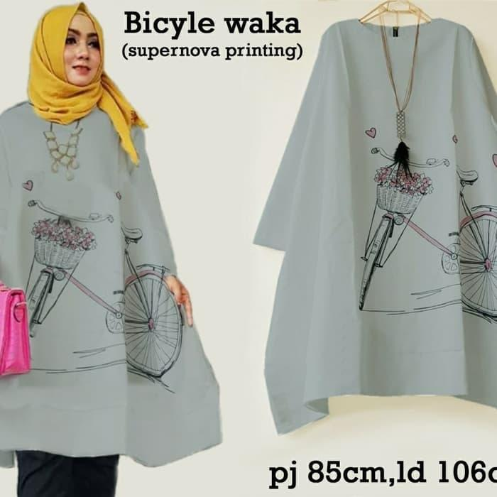 Kitty Fashion TUNIK WAKA BICYCLE , Baju Muslim , Blouse Muslimah, Baju Wanita Murah