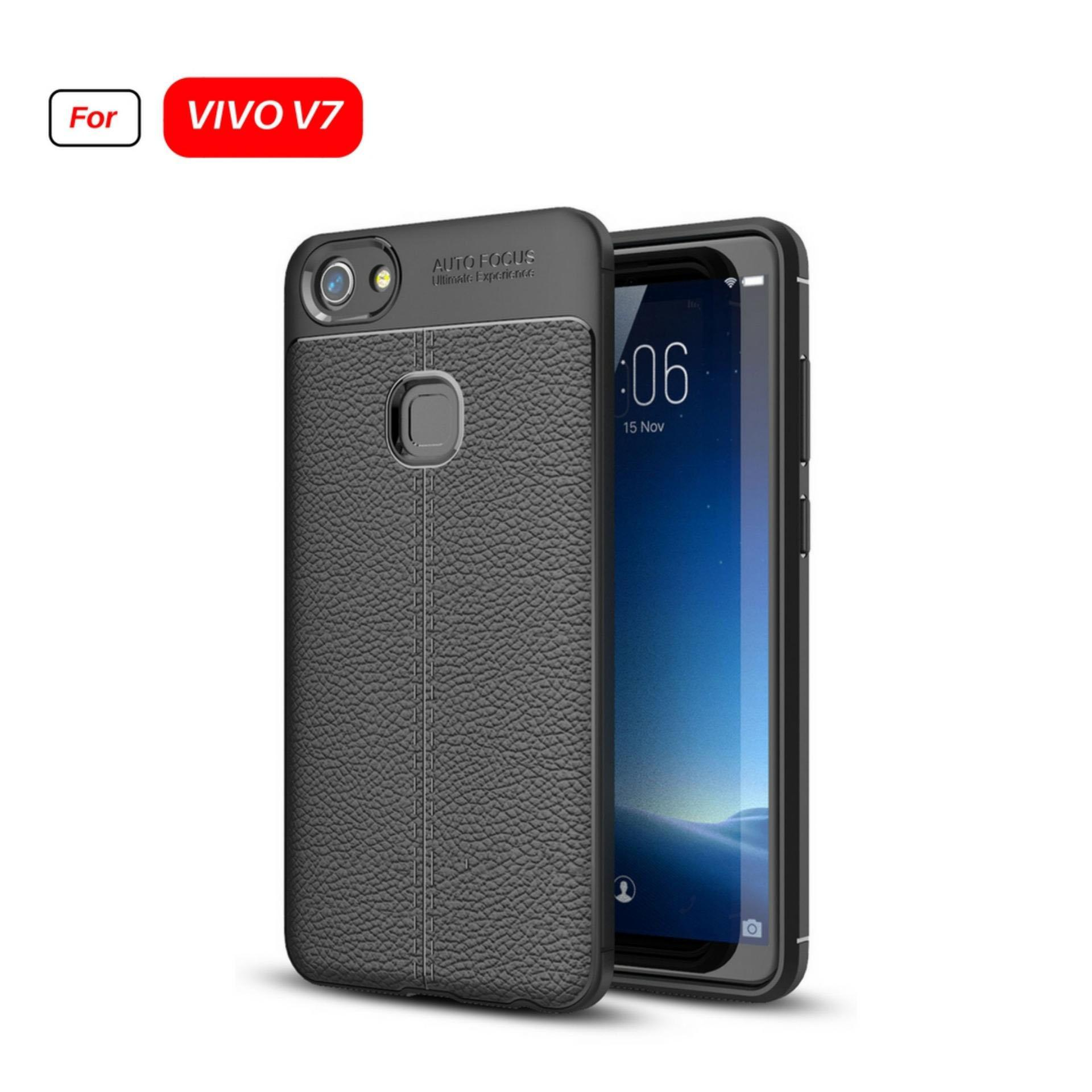 Jak Shop Leather Softcase For VIVO V7 - Black