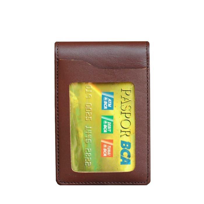 Murah Id Card Holder Name Tag Dompet Kartu Nama Kulit Magnet