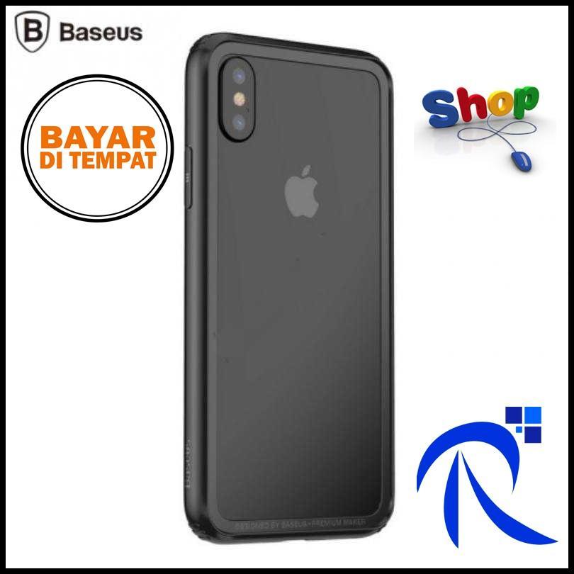 Bumper Hard & Soft Border Case for iPhone X - Black / Hitam - Pelindung Casing TPU Keras Lentur Flexible Ringan Original FREE ONGKIR & BIsa COD